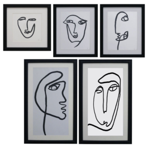 GICLEE COLLAGE FACES  SET 5