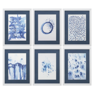 GICLEE BLUE WATERCOLOR SET 6