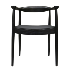 SILLA TULUM SMOOTH BLACK ASIENTO NEGRO